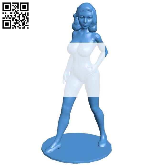 Miss Elizabeth B007450 file stl free download 3D Model for CNC and 3d printer