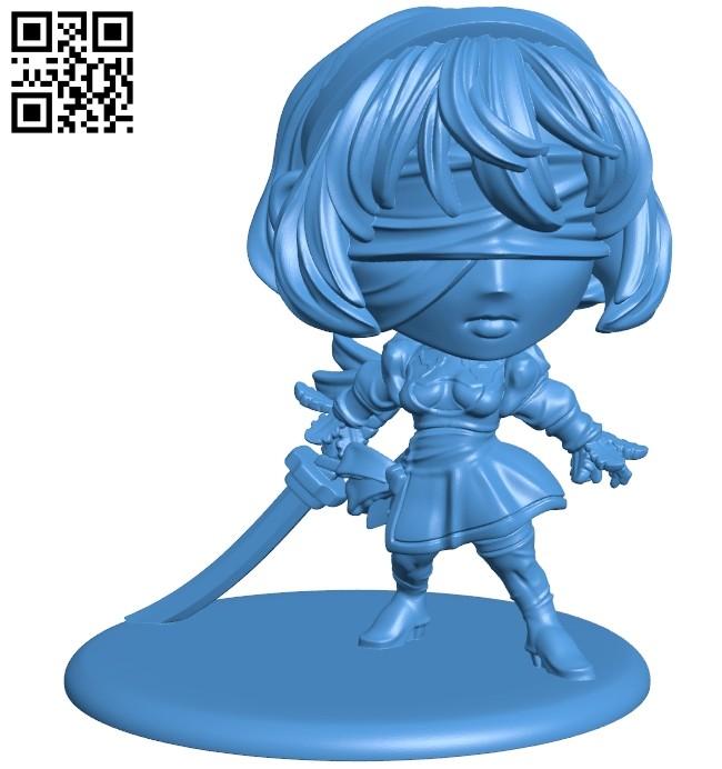 Miss Yorha B007382 file stl free download 3D Model for CNC and 3d printer
