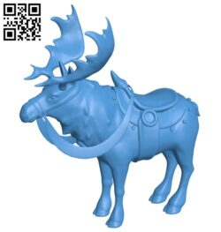 Moose in harness B007527 file stl free download 3D Model for CNC and 3d printer