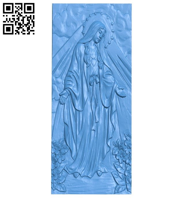 Mother painting of god A004947 download free stl files 3d model for CNC wood carving