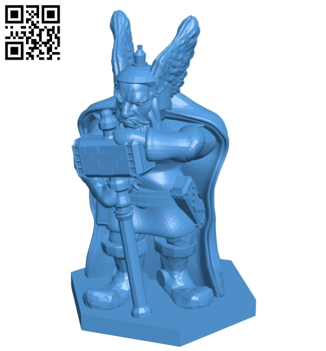 Mr Gnome warrior B007418 file stl free download 3D Model for CNC and 3d printer