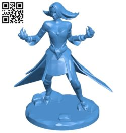 Miss Lina with fireball – dota 2 B007136 file stl free download 3D Model for CNC and 3d printer