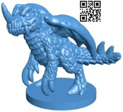 One-horned dragon B007281 file stl free download 3D Model for CNC and 3d printer