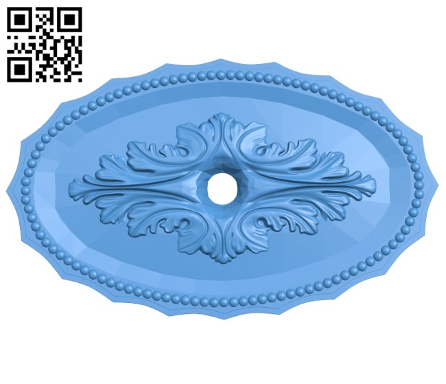 Oval pattern A004929 download free stl files 3d model for CNC wood carving