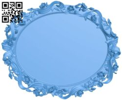 Oval picture frame A004877 download free stl files 3d model for CNC wood carving