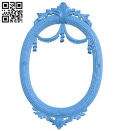 Oval picture frame or mirror A004980 download free stl files 3d model for CNC wood carving