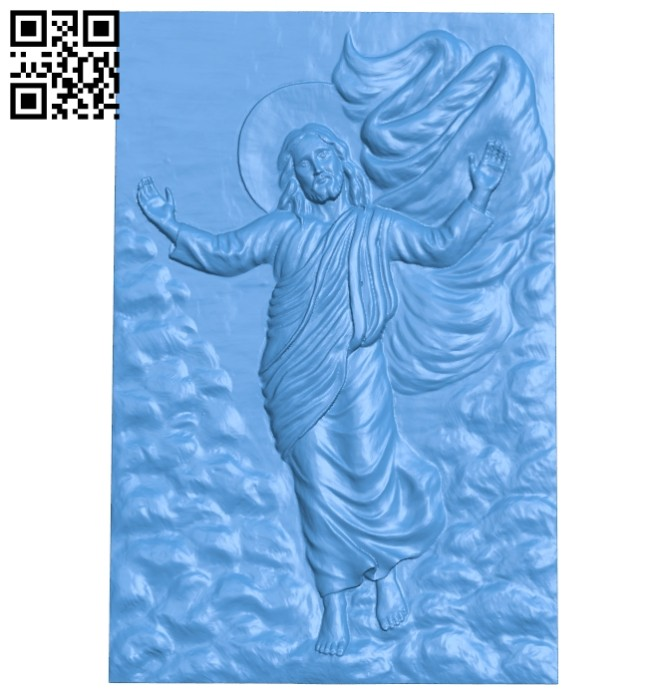 Painting of God A004944 download free stl files 3d model for CNC wood carving