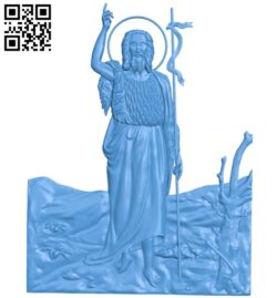 Painting of God A004945 download free stl files 3d model for CNC wood carving