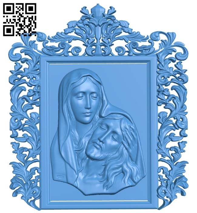 Painting of God and Mother A004946 download free stl files 3d model for CNC wood carving