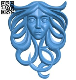 Pattern decor face design A004852 download free stl files 3d model for CNC wood carving