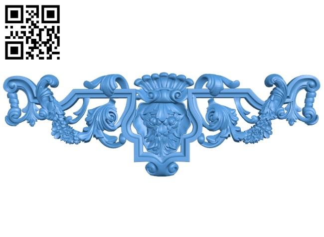 Pattern decor design A004902 download free stl files 3d model for CNC wood carving
