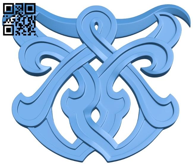 Pattern decor design A004903 download free stl files 3d model for CNC wood carving