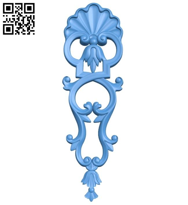 Pattern decor design A004952 download free stl files 3d model for CNC wood carving