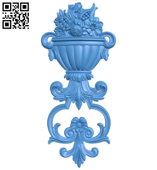 Pattern decor design A004954 download free stl files 3d model for CNC wood carving