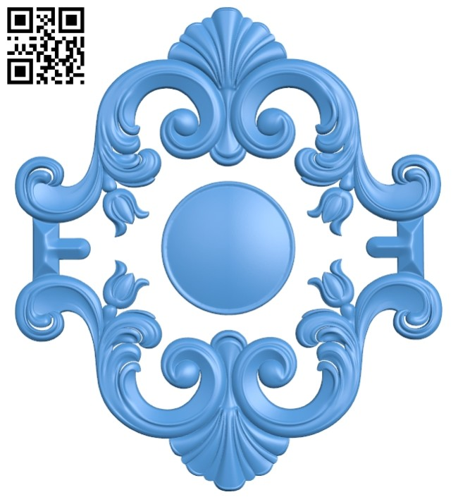 Pattern decor long A004916 download free stl files 3d model for CNC wood carving