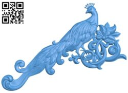 Pattern decor peacock design A004913 download free stl files 3d model for CNC wood carving