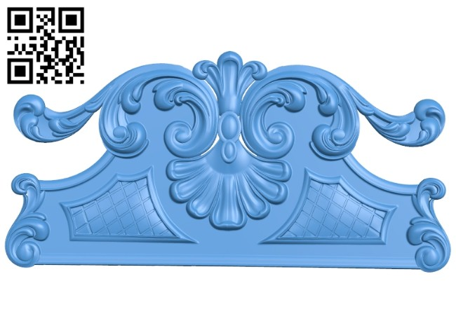 Pattern of the bed frame A004949 download free stl files 3d model for CNC wood carving