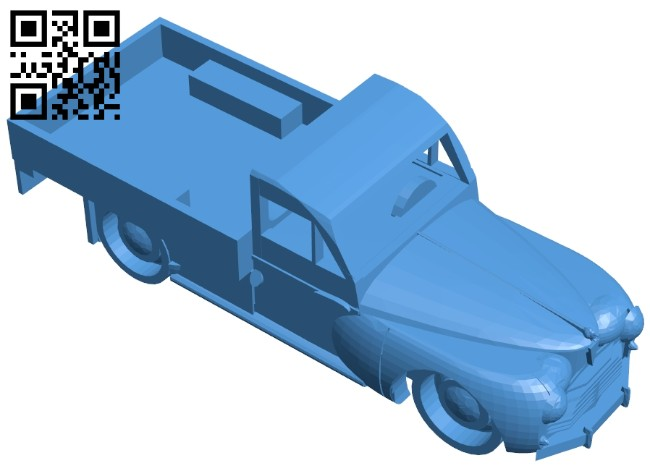 Peugeot truck B007237 file stl free download 3D Model for CNC and 3d printer
