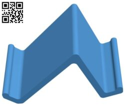 Phone stand – smartphone B007353 file stl free download 3D Model for CNC and 3d printer
