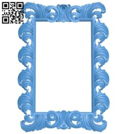 Picture frame or mirror A004817 download free stl files 3d model for CNC wood carving