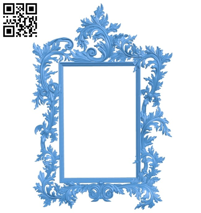 Picture frame or mirror A004878 download free stl files 3d model for CNC wood carving