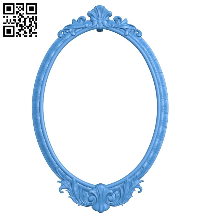 Picture frame or mirror A004880 download free stl files 3d model for CNC wood carving