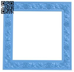 Picture frame or mirror A004906 download free stl files 3d model for CNC wood carving