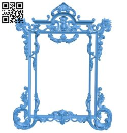 Picture frame or mirror A004907 download free stl files 3d model for CNC wood carving