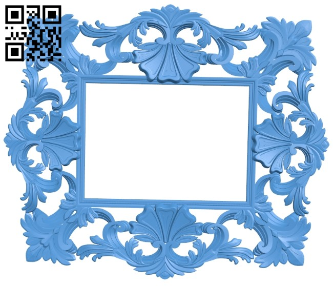Picture frame or mirror A004909 download free stl files 3d model for CNC wood carving