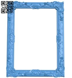 Picture frame or mirror A004958 download free stl files 3d model for CNC wood carving
