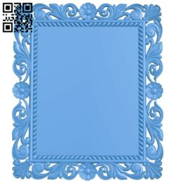Picture frame or mirror A004959 download free stl files 3d model for CNC wood carving