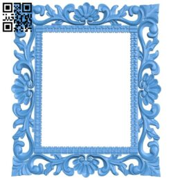 Picture frame or mirror A004961 download free stl files 3d model for CNC wood carving