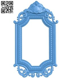 Picture frame or mirror A004963 download free stl files 3d model for CNC wood carving