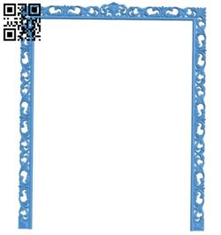Picture frame or mirror A004979 download free stl files 3d model for CNC wood carving