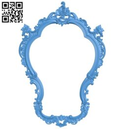 Picture frame or mirror A004981 download free stl files 3d model for CNC wood carving