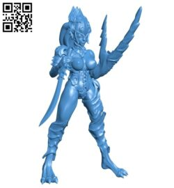 Purple demon women B007222 file stl free download 3D Model for CNC and 3d printer