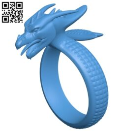 Ring with dragon B007482 file stl free download 3D Model for CNC and 3d printer