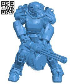 Robot T60 minigun B007530 file stl free download 3D Model for CNC and 3d printer
