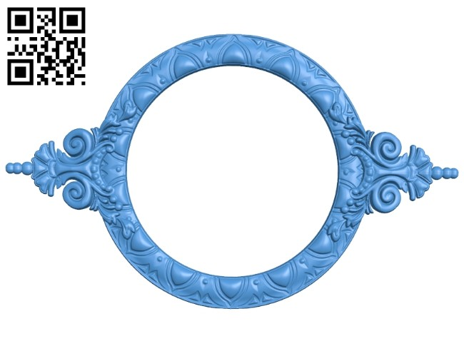 Round frame pattern A004922 download free stl files 3d model for CNC wood carving