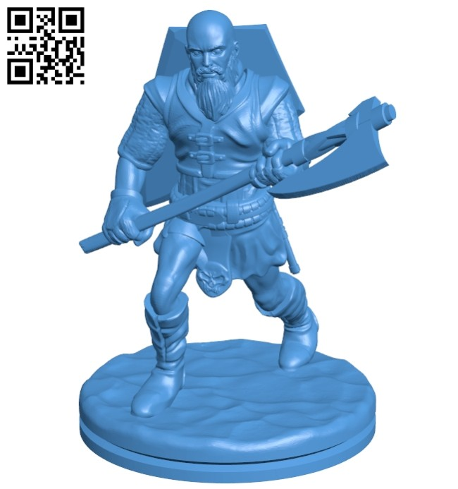 Running viking man B007555 file stl free download 3D Model for CNC and 3d printer