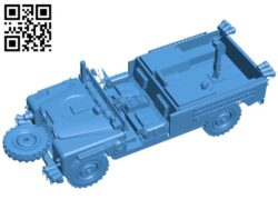SAS Land Rover S2 109 – car B007483 file stl free download 3D Model for CNC and 3d printer