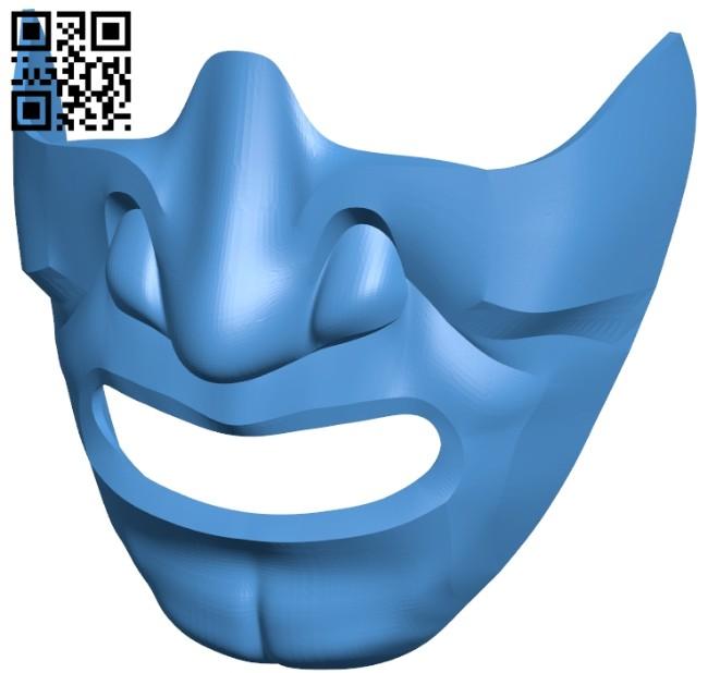 Samurai Half Mask B007435 file stl free download 3D Model for CNC and 3d printer