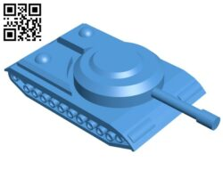 Simple tank B007295 file stl free download 3D Model for CNC and 3d printer