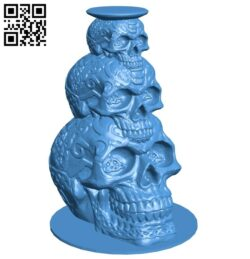 Skull Stack B007267 file stl free download 3D Model for CNC and 3d printer