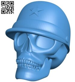 Skull With Cap B007310 file stl free download 3D Model for CNC and 3d printer