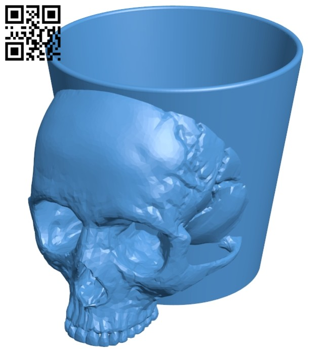 Skull cup B007298 file stl free download 3D Model for CNC and 3d printer