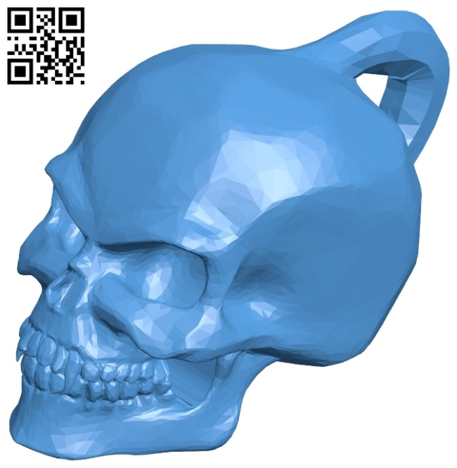 Skull keychain B007455 file stl free download 3D Model for CNC and 3d printer