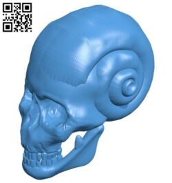 Skull snail B007436 file stl free download 3D Model for CNC and 3d printer