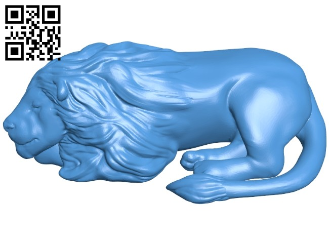 Sleeping lion B007469 file stl free download 3D Model for CNC and 3d printer
