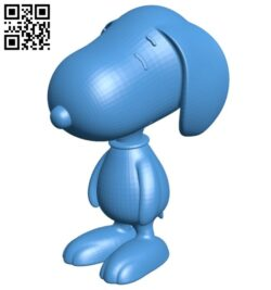 Snoopy dog B007282 file stl free download 3D Model for CNC and 3d printer